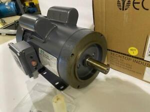 TECHTOP  1HP AC MOTOR 1730 RPM TEFC 115/208/230 VAC  143TC  1 PHASE MOTOR