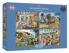 Gibsons The Farmers Round 4x500 Piece Jigsaw Puzzles Design By Trevor Mitchell G