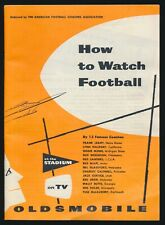 1953 Oldsmobile HOW TO WATCH FOOTBALL Guide Booklet -Tough To Find