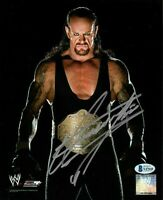 WWE THE UNDERTAKER HAND SIGNED AUTOGRAPHED 8X10 PHOTO WITH PROOF BECKETT COA 12