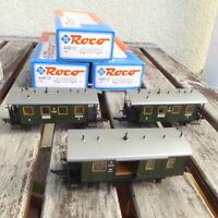 Roco 2 x 44812, Roco 44813 H0 Set 3 x Lokalbahnwagen Bayern Epoche 1 gut in OVP