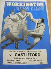 12/03/1978 Rugby League Programme: Workington Town v Castleford [Challenge Cup]