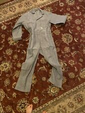 V 00006000 tg Sears Tradewear Coveralls 38R Herringbone Workwear Mechanic Uniform Railroad