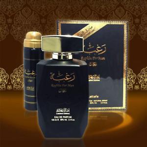 Raghba by Lattafa Ragba Halal Fragrance Attar EDP Spray Perfume 100ml +Deodorant