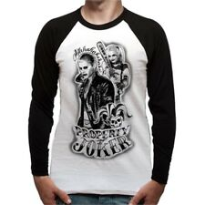 Suicide Squad Baseball Shirt T-shit Long Sleeve Property of S