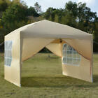 Heavy Duty Canopy Party 10'x 10'Outdoor Wedding Tent Gazebo with 4 Sides Walls