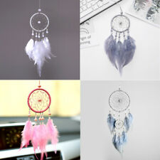 Dreamcatcher with Feather Pearl Wind Chimes Car Pendant Gift Home Wall Decor