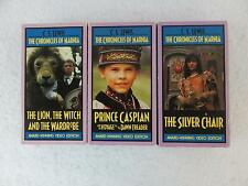 Lot of 3 C. S. Lewis CHRONICLES OF NARNIA  BBC Wonderworks VHS 6 Videos