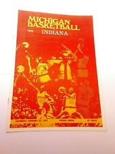 1972-73 Michigan Wolverines Indiana Hoosiers Basketball Program