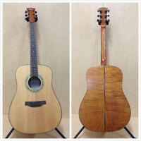 4/4 Klema K200DS Solid Spruce Top  Dreadnought Acoustic Guitar,Matt+Free Gig Bag