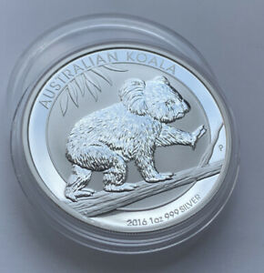 2016 1 Oz 999 Silver Koala Perth Mint One Dollar Australia