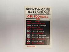 Ohio State University 1988 Football NCAA College Pocket Schedule (RK)