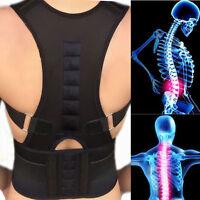 Magnetic Posture Corrector Belt for Lumbar Lower Back Support Shoulder Brace kp