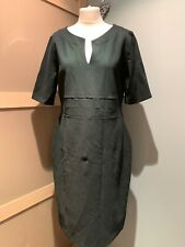 Hobbs Forrest Green Shift Dress With Short Sleeve Size 16