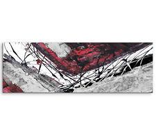 Leinwandbild Panorama rot schwarz grau weiß Paul Sinus Abstrakt_764_150x50cm