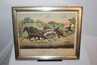 Antique Print Horse Racing Trotting George M Patchen Union Course 1859 Currier