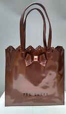 Ted Baker Rose Shopper Tote Shoulder Bag Handbag Pink Bow Glitter Large