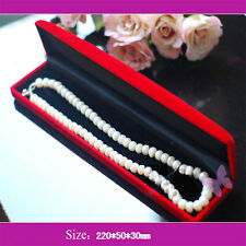 Luxury Red Velvet Valentine Gift Presentation Jewelry Necklace Bracelet Case Box