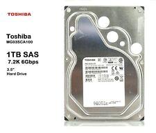 "TOSHIBA MG03SCA100 1TB 7.2K 6Gbps 3.5"" SAS Internal Hard Drive Server HDD SCSI"
