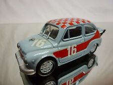 BRUMM FIAT 600 ABARTH  - RALLY No 16 GREY 1:43 - GOOD CONDITION