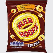 Hula Hoops Box of 48 x 34g BBQ Beef , ORIGINAL