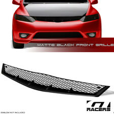 *MATTE BLACK* FOR 2006-2008 HONDA CIVIC COUPE T-R MESH FRONT BUMPER GRILL GRILLE