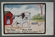R&L Postcard: Comic, Inter Art Katchy 883 British Bulldog Eats Anything
