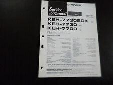 Original Service Manual Schaltplan Pioneer KEH-7730 SDK KEH-7730 KEH-7700
