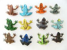 Frösche 12erSet 4,5cm Hartgummi Kröte Pfeilgiftfrösche Spielzeug Frosch Tiere NW