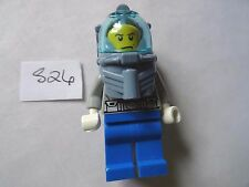 LEGO Minifigura BLU gambe tronco grigio con airtank (S26)