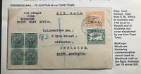 1931 Windhoek South West Africa First Flight Cover FFC To Adelaide Australia