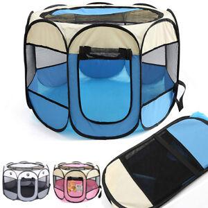 Large Pet Playpen Portable Foldable Travel Dog Cat Puppy Play Pen Soft Fabric UK