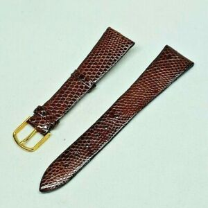 20MM BROWN GENUINE LIZARD  LEATHER WATCH BAND STRAP