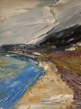 Original painting - POLPERRO BEACH - abstract landscape