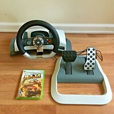 Microsoft Xbox 360 Racing Stering Wheel Controler  with Pedals, Tested, No Clamp