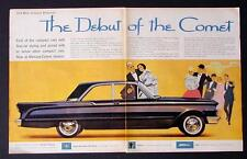 RARE 1960 FORD LINCOLN MERCURY DEBUT OF COMET CAR AD ANTIQUE AUTOMOBILE ART