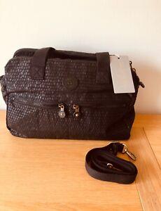 Kipling black handbag with optional shoulder/crossbody strap