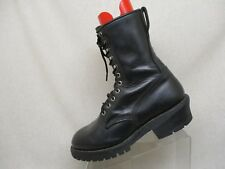 EUC Red Wing Black Leather Lace Logger Steel Toe Work Boots Combat Size 10 E USA