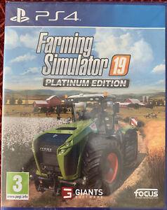 Farming Simulator 19 PS4 Platinum Edition - Spanish Edition - NEW SEALED EBO6