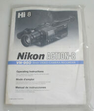 NIKON ACTION 8 VN 950 8MM VIDEO CAMERA RECORDER OPERATING INSTRUCTIONS MANUAL