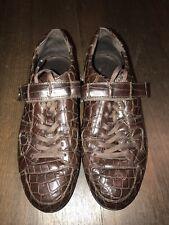 s.richhezze, Hermes,Turnschuhe, Sneakers, G40, braun, echt croco Leder NP 2000