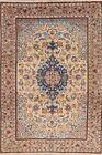 Vintage Medallion Floral Najafabad Hand-Knotted Area Rug Oriental Carpet 7x11