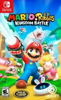 NEW! MARIO + RABBIDS KINGDOM BATTLE (Nintendo Switch 2017) FAST FREE SHIPPING!!!