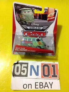 Disney Pixar Cars Diecast Race Team FILLMORE With Headset VW Pit Crew 95 (FB02)