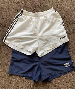 Mens Vintage Adidas Black Swim Shorts Size XL   Lined  - Retro 90s Casuals