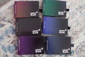 Montblanc Fountain Pen Ink Cartridges 8 Per Pack LOT of 6 Packs Asst Colors