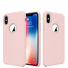 For Apple iPhone XS,X, 8, Plus Silicone Case Cover Shockproof Microfiber Lining