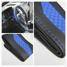 wrap steering wheel cover blue pvc leather DIY with needle 47012B