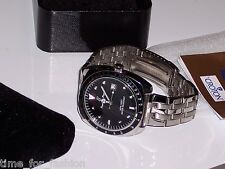 Croton Mens Paul Du Pree Watch Black Dial Stainless Steel