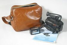 PANASONIC VHSC CAMERA WITH STRAP, BATTERY, AND GADGET BAG [NEEDS CHARGER]